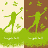 Set of two Nature backgrounds Stock Images