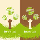 Set of two Nature backgrounds Stock Image