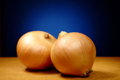 Set of two onion bulbs Stock Photo