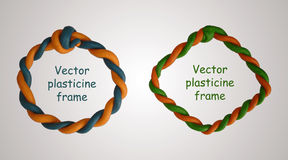 Set of two plasticine frames Stock Photography
