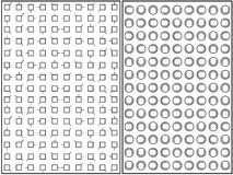 Psychological Tests. Set of two psychological tests illustrated on white background Royalty Free Stock Images