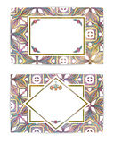 Set of two retro cards or backgrounds. Abstract Royalty Free Stock Photography