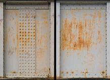 Set of two rusty metal plate Royalty Free Stock Photography