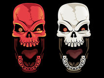 Screaming Skulls. A set of two screaming skulls Stock Image