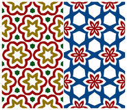 Set of Two Seamless Floral Patterns Royalty Free Stock Photography