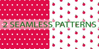 Set of two seamless patterns in red color royalty free illustration