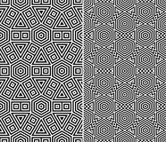 Set of Two Seamless Patterns Stock Photo