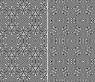Set of Two Seamless Patterns Stock Image