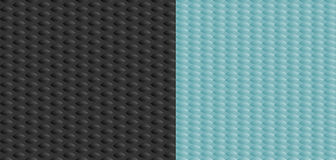 Set of two seamless texture rubber with pimples Stock Images