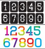Set of two sets numbers for advertising and web design Stock Photography