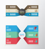 Set of two sided business template. With three different levels Stock Photos