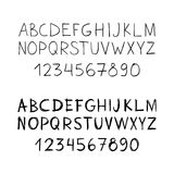 Set of two sketch font. Stock Image