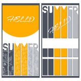 Set of two summer colorful banners Royalty Free Stock Photography