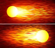Set of two vector fireballs. Eps8. RGB Global colors Stock Image