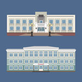 Set of two vector illustration of vintage house Royalty Free Stock Image