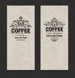 Set of two vector  trendy coffee posters Stock Photography