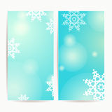 Set of two vertical holidays christmas banners Stock Photo