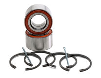 Set of two wheel bearings and four retaining rings. Stock Image