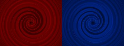 Set of two whirls Royalty Free Stock Images