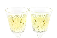 Set from two wine glasses Stock Photo
