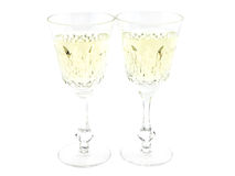 Set from two wine glasses Stock Images