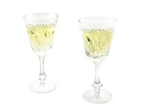 Set from two wine glasses Royalty Free Stock Images