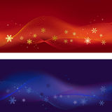 Set of two winter banners Stock Photography