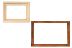 Set of two wooden frames. (with empty space for text, photo or picture Royalty Free Stock Photo