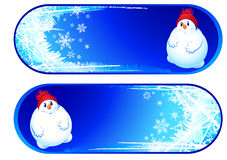 Set of two xmas banners Royalty Free Stock Photo