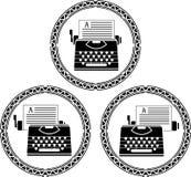 Set of typewriters Stock Images