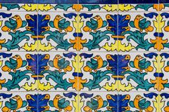 Set of typical Catalan mosaics, with animal and nature motifs. B Royalty Free Stock Photos