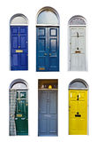 Set of typical English doors Royalty Free Stock Image