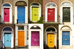 Dublin`s doors royalty free stock images