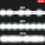 Set of typical LED tapes. Stock Photos