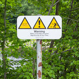 Set of typical open water swimming warnings Royalty Free Stock Photos