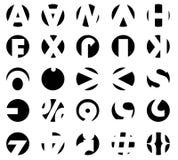 Set Typografie-Kreise Stockbild