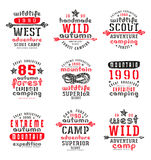 Set of typographic  compositions for t-shirt Royalty Free Stock Photo