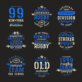 Set of typographic  compositions for t-shirt Royalty Free Stock Images