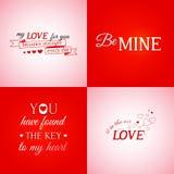 Set of typographic design elements Stock Photography