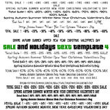 Set of  Typographic Elements for Sale, spring, summer, winter, valentine's day, autumn, new year events. Stock Photography