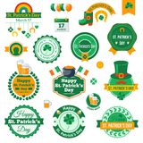 Set of Typographic Saint Patrick's Day Labels Stock Images
