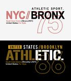 Typography NYC Bronx t-shirt graphic vector Stock Photo