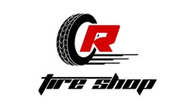 Tyre shop logo design. Set of Tyre Shop Logo Design. Wheel repair service. Tire storage company logo Stock Illustration