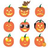 Set uśmiecha się bani dla Halloween Fotografia Royalty Free