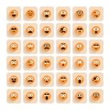 Set uśmiecha się twarzy ikony emocja royalty ilustracja