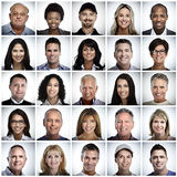 Set uśmiechnięci ludzie twarzy Obraz Royalty Free