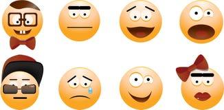 Set uśmiechy Fotografia Stock