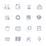 Set with UI icons in modern style. High quality symbols for web site design and mobile apps. Simple UI pictograms on a white backg Royalty Free Stock Photography