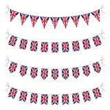 Set of uk bunting Stock Photography