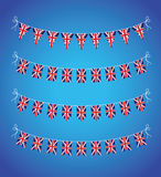Set of uk bunting Royalty Free Stock Photo